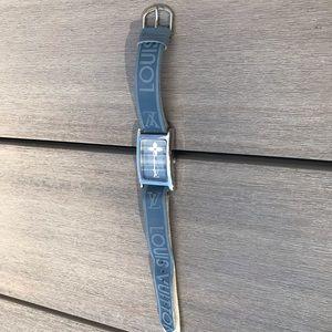 Vintage Louis Vuitton Blue Leather Watch
